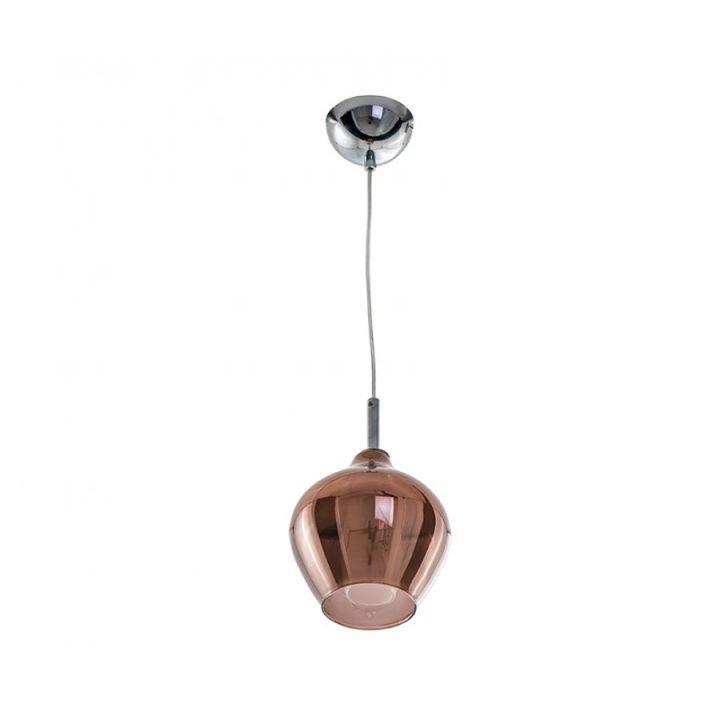 Azzardo AZ 3077 AMBER MILANO 1 ágú függeszték lámpa