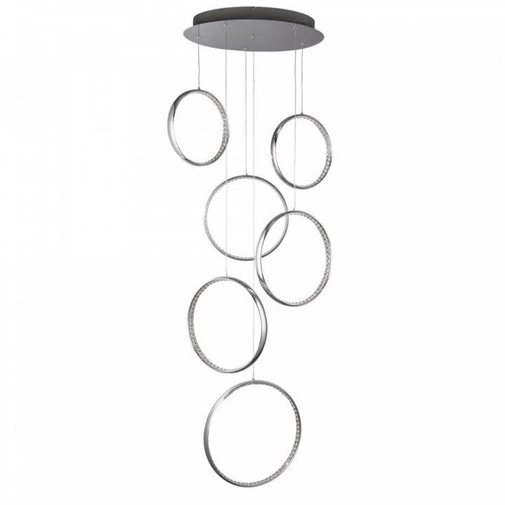Searchlight 3166 6CC RINGS több ágú függeszték LED lámpa