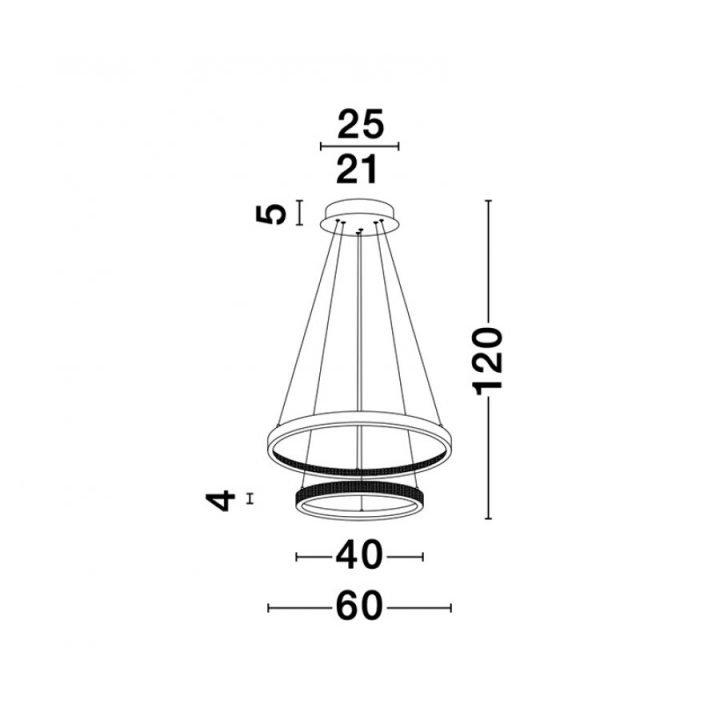 Nova Luce NL 9862852 PRESTON több ágú függeszték LED lámpa