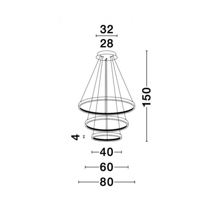Nova Luce NL 9862853 PRESTON több ágú függeszték LED lámpa